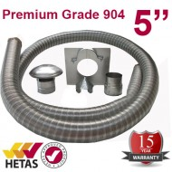 "5"" 904 Stainless Steel Flexible Flue Liner Kit"