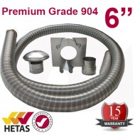 "6"" 904 Stainless Steel Flexible Flue Liner Kit"