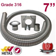 "7"" 316 Stainless Steel Flexible Flue Liner Kit"