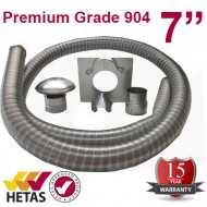 "7"" 904 Stainless Steel Flexible Flue Liner Kit"